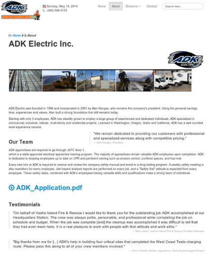 ADK Electric Inc.